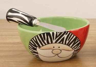 Young's Wild Santa Dip Bowl with Spreader