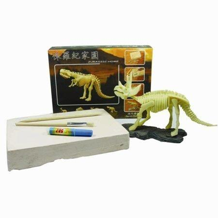 Educational Excavation Kit - Triceratops Dinosaur - Do-It-Yourself Gift for Kids and Adults by bamboo gifts