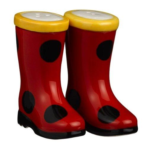 Grasslands Road Puddle Jumper Salt and Pepper Shakers, Red