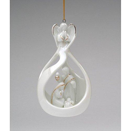 Cosmos Gifts Angel with Holy Family Ornament
