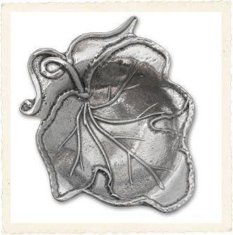 Crosby & Taylor Handcrafted Pewter Tea Bag Holder, Vineyard