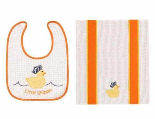 C&F Little Skipper Bib & Burp Cloth Set