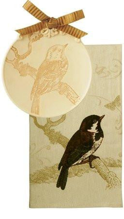 Grasslands Road Warm by Nature Soap Dish With Guest Towel, choice of styles (Bird)