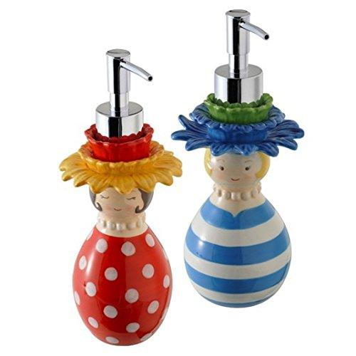 Grasslands Road Flower Lady Soap Pump/Lotion Dispenser (Set of 2)