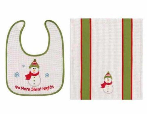 C&F No More Silent Nights Bib & Burp Cloth Set