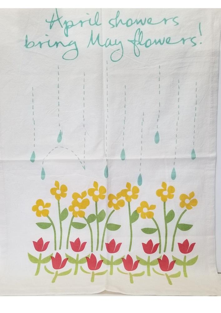 TAG April Showers Dishtowel