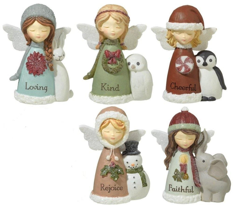 Grasslands Road Mini Angel Figurines, Set of 5