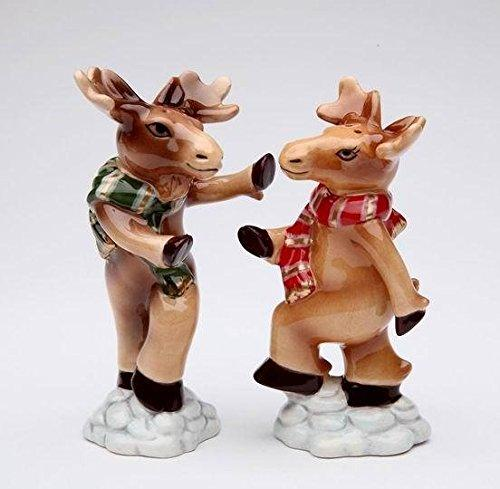 Cosmos Gifts Moose Couple Salt and Pepper Shakers - Cosmos Gifts