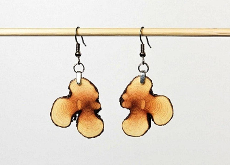 Forest Life Creations Handmade Earrings, Ceanothus Slices - Forest Life Creations