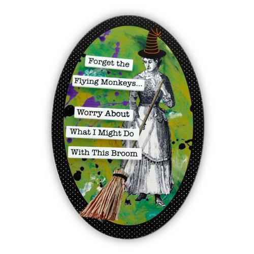 Our Name is Mud Broom Witch Plaque by Enesco
