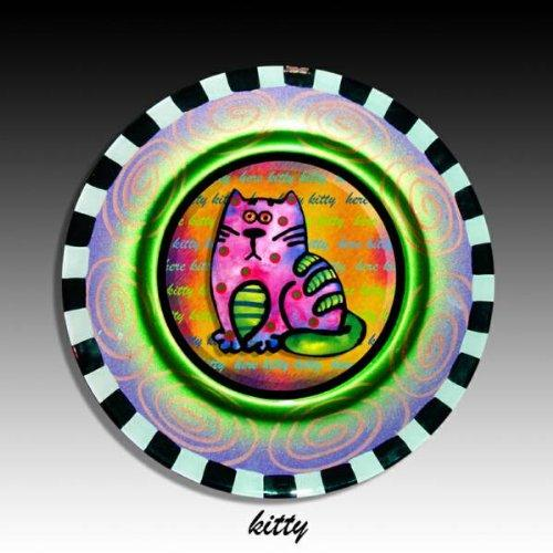Handmade Kitty Plate by Sevuplates
