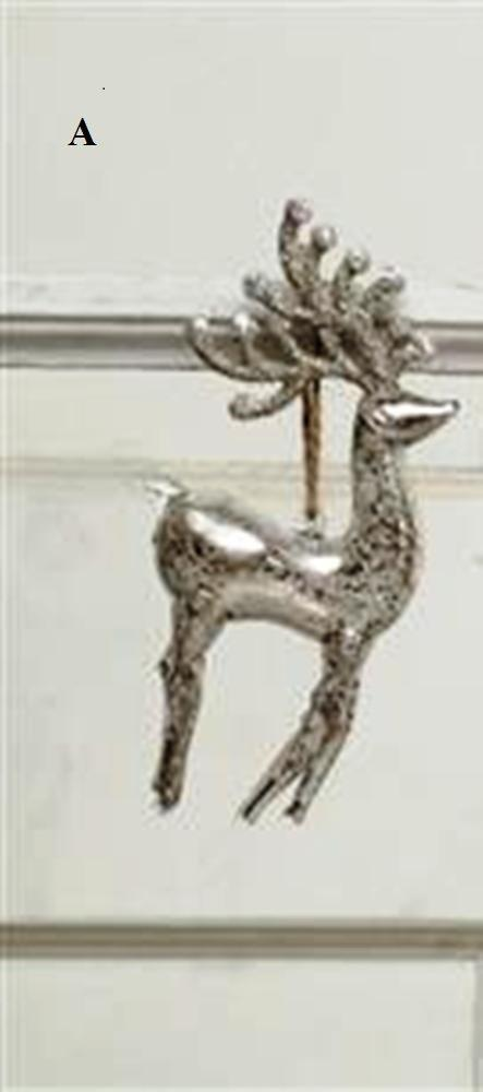 Creative Co-Op Silent Night Collection Mercury Glass Deer Ornament, Choice of Style - Gifts From A Distance