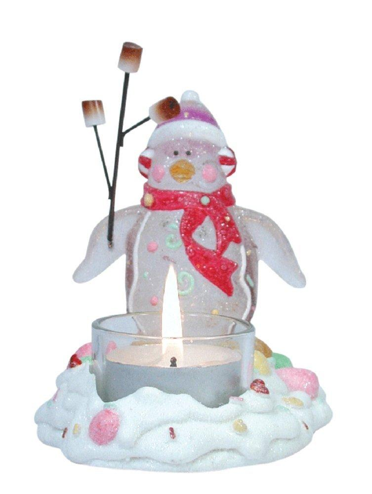 Penguin Barbequeing Marshmallows Tealight Holder by Westland Giftware