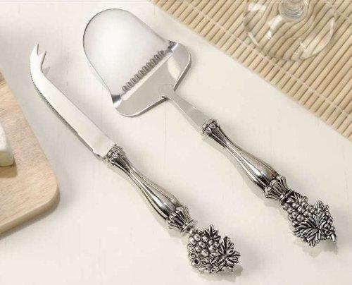 Giftcraft Cheese Knife and Cheese Plane, Grape Motif