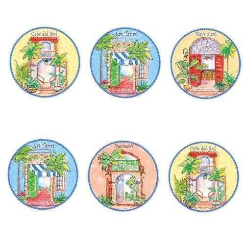 Cafe del Sol Ceramic Coaster Set - Gifts From A Distance