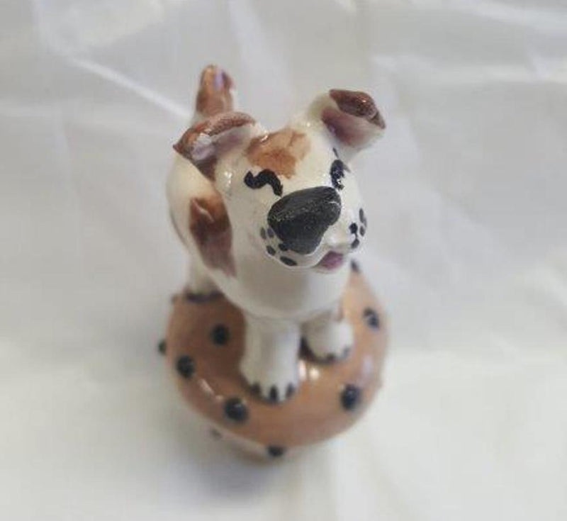 Amy Lacombe Original Handmade Ceramic Dog Wine Bottle Stopper