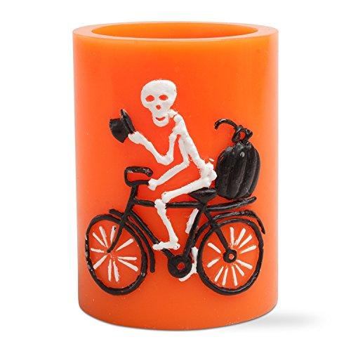 "Tag Flameless LED Skeleton Pillar 4"" Candle"
