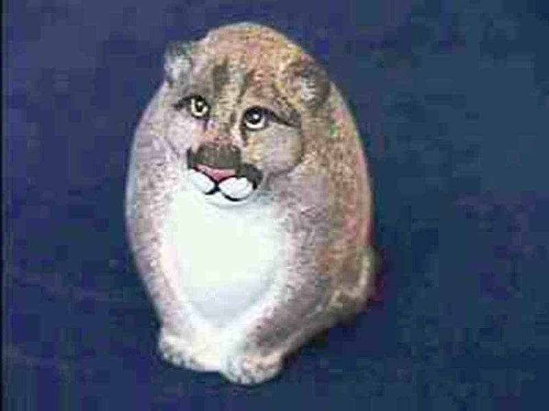 Farm Fresh Eggs Handmade Collectible Manny the Mountain Lion Figurine - Farm Fresh Eggs