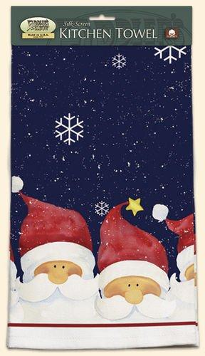 Fiddler's Elbow Santa Kitchen Towel designed by Barbara Tourtillotte