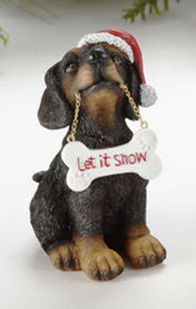 Delton Products Resin Christmas Dog Figurine With Sign, Choice of Style
