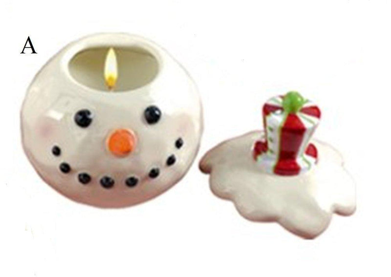 Grasslands Road Holiday Studio 100 Snowman Peppermint Scented Candle Pot, Choice of Style