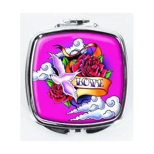 Love Tatoo Art Mirror Compact - by Spoontiques - Spoontiques