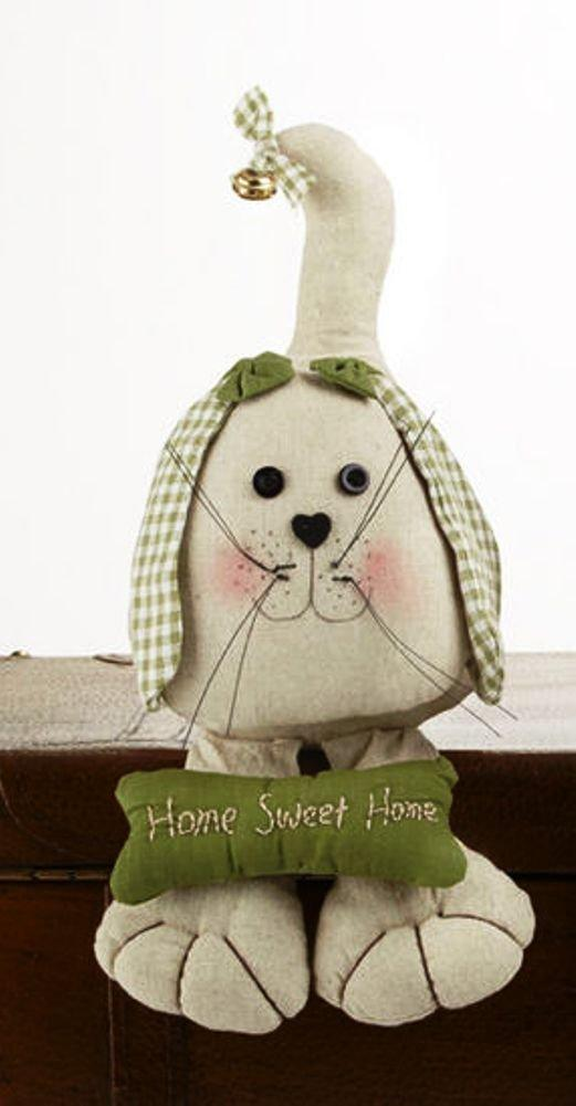 Delton Products Crouching Dog, Home Sweet Home