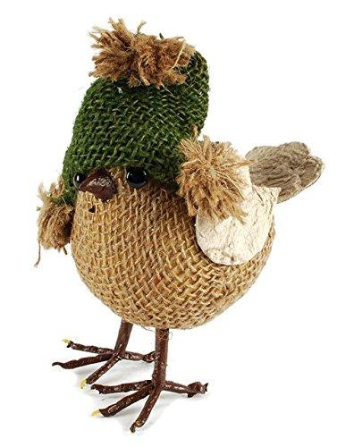 Blossom Bucket Brown Bird with Green Hat Figurine - Gifts From A Distance