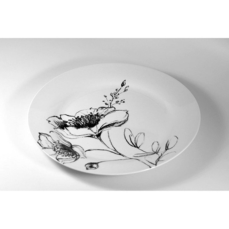 Paperproducts Design Blanco/Nero Dinner Plate, Set of 6