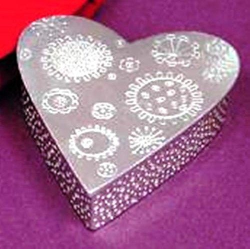 Pewter Treasure/Trinket Box, Cosmic Heart, Made in the USA by Vilmain