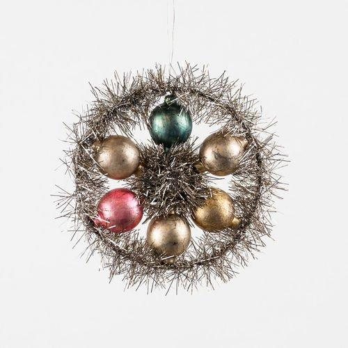 Glass Tinsel Ball Ornament By One Hundred 80 Degrees