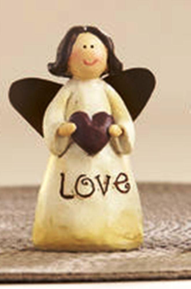 Delton Products Resin Message Angel Figurine, Choice of Style (Love) - Delton
