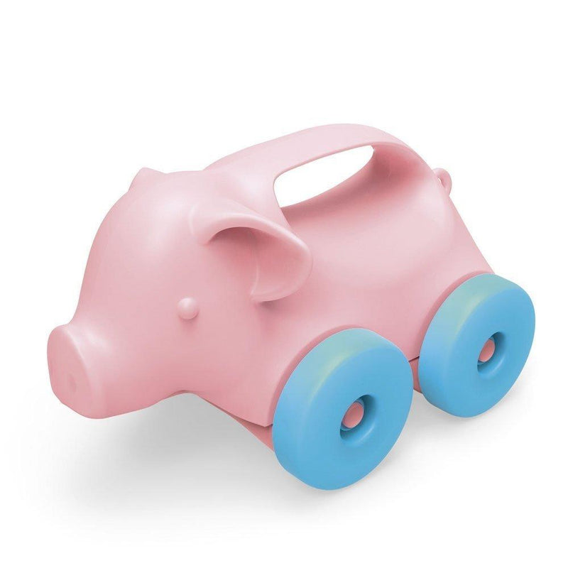 Green Toys Pig-on-Wheels, Pink/Blue