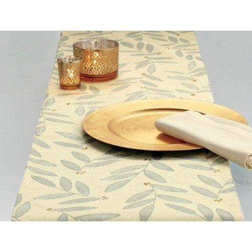 TAG Shimmer Sateen Leaf Table Runner
