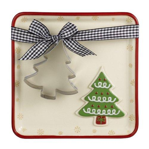 Grasslands Road SnoCountry Cookie Plate with Cookie Cutter - Choice of 2 Styles