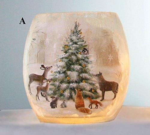 Stony Creek Soft Winter Collection Lighted Glass Jar, Choice of Style