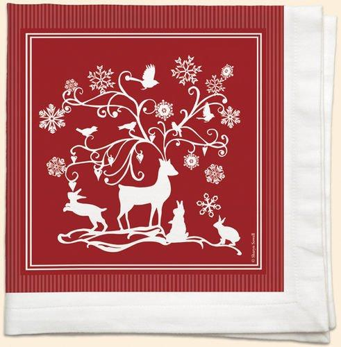 Fiddler's Elbow Fantasy Deer set of 4 napkins designed by Sharyn Sowell