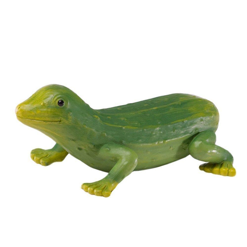 Enesco Home Grown Gherkin Gecko Collectible Figurine, 4.5 inches, Green