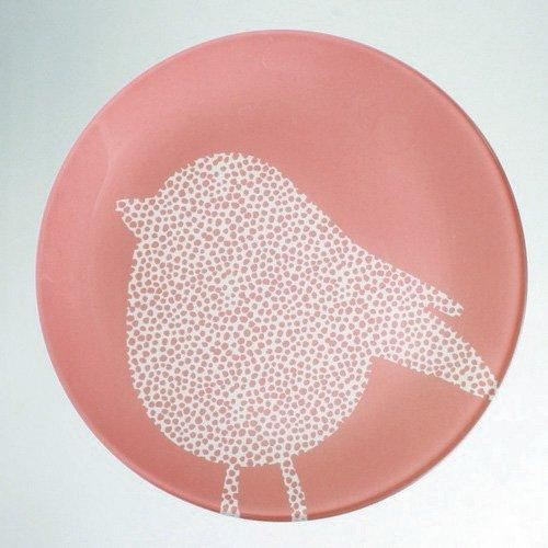 TAG Colored Glass Chick Luncheon or Snack Plate, Set of 6