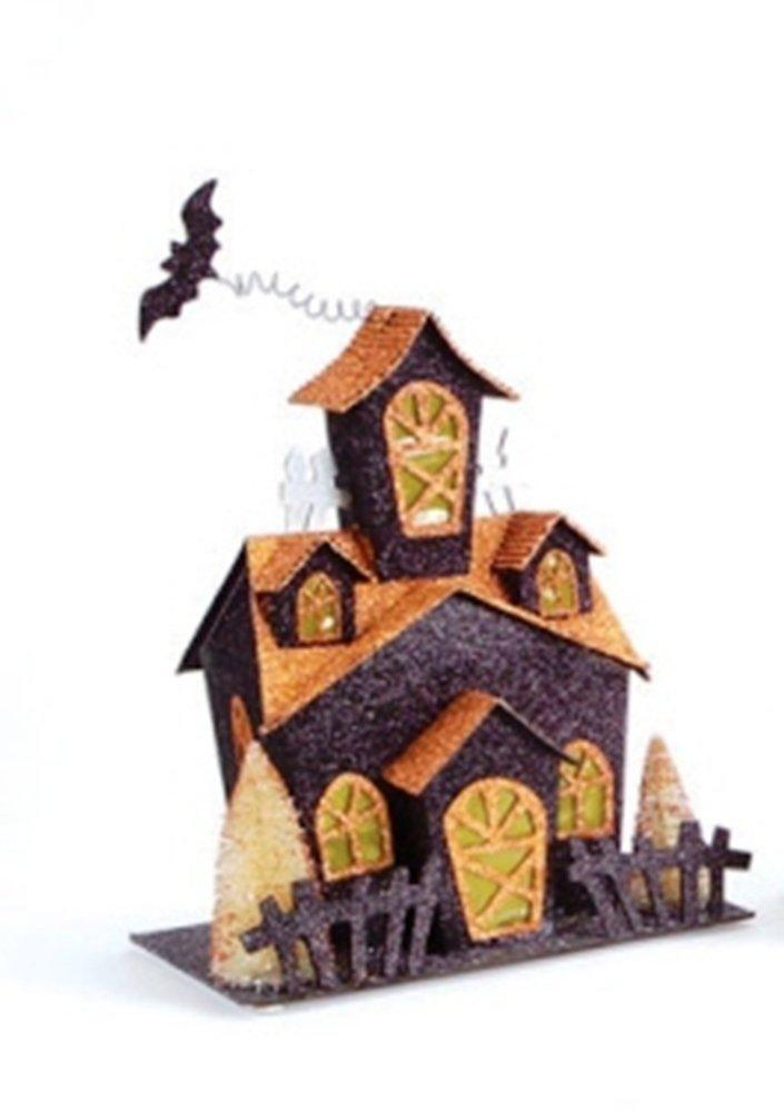 Melrose LED Halloween House With Glitter, Choice of Style