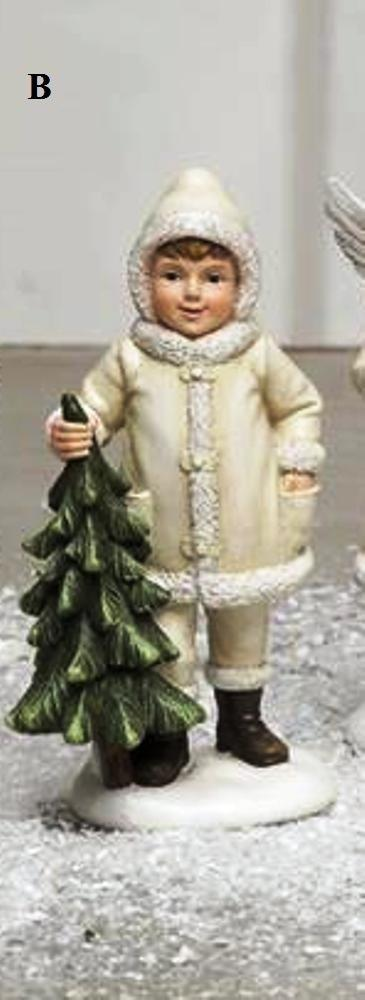 Creative Co-Op Silent Night Collection Resin Child Figurine, Choice of Style