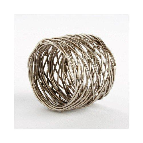 Spun Metal Napkin Ring, Silver, Set of 2, By Tag - TAG