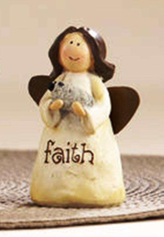 Delton Products Resin Message Angel Figurine, Choice of Style (Faith) - Delton