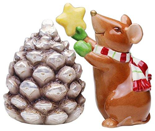 Mouse With Pinecone Salt and Pepper Set