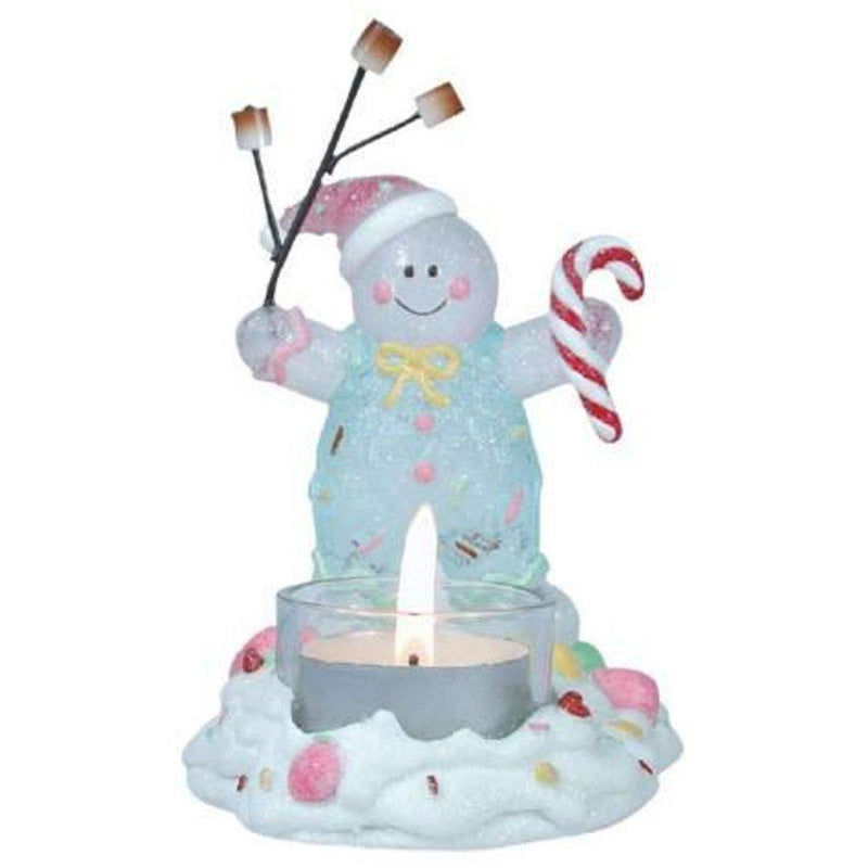 Gingerbread Man Barbequeing Marshmallows Tealight Holder by Westland Giftware