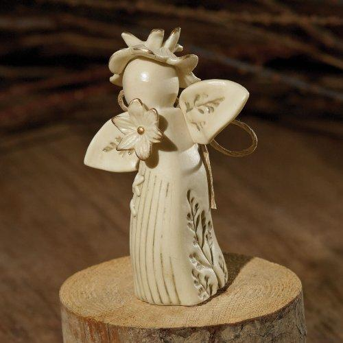 Enesco Nature's Poetry Be Well Flower Angel Figurine, 3-Inch