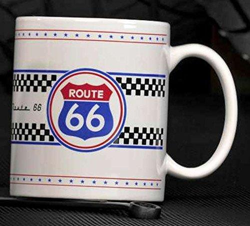 Route 66 Mug By Giftcraft, White - Route 66