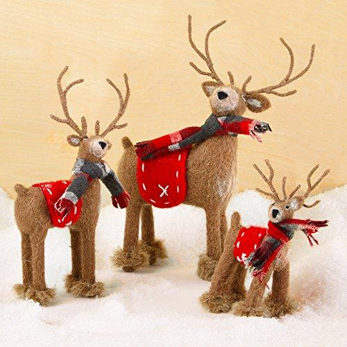 Two's Company Cupcakes & Cartwheels Naturally Cute Standing Reindeer, Set of 3