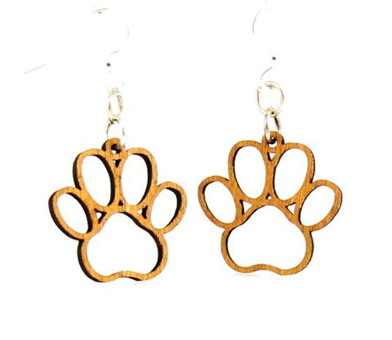 Puppy Paw Blossoms Earrings by Green Tree Jewelry, Made in the USA