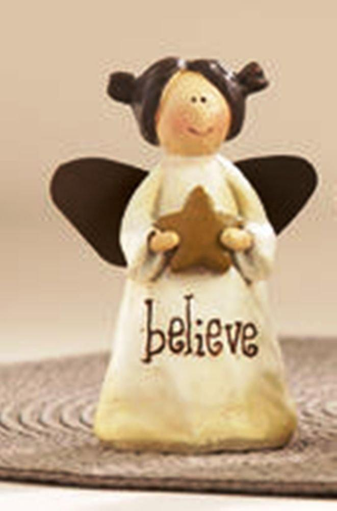 Delton Products Resin Message Angel Figurine, Choice of Style (Believe)